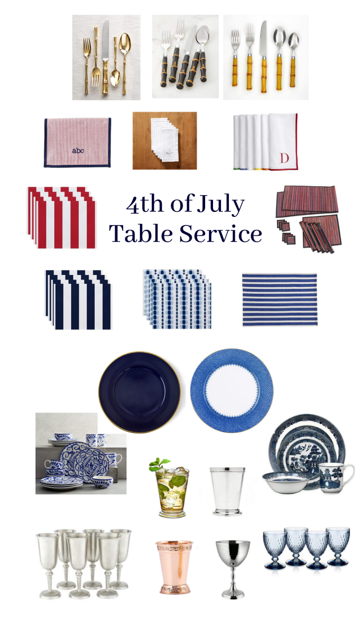 4th of July Table Service